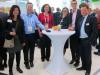Baden-Württemberg meets Saxony: Christine Decker (li) und Stefan Müller (re) vernetzen sich