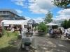 Zwischen dem BTZ und den Cumdente-Gebäuden: der idyllische Biergarten der Gastronomie Sternwarte