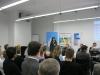 Christine Decker von der TF R-T begrüßt das zahlreich erschienene Publikum
