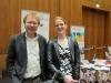 """Ein voller Erfolg der """"Junge Innovatoren""""-Förderung: Dr. Rainer Körber vom KIT freut sich mit Nadine Antic über das gelungene Projekt """"SeNa Flora"""""""