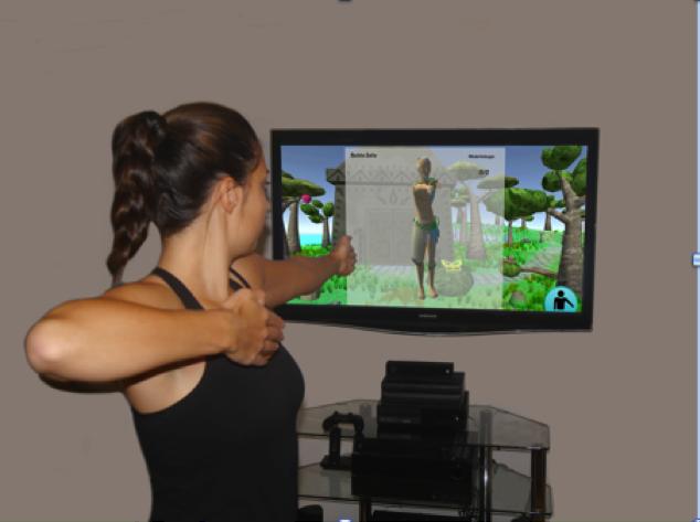 Individuelle Übungen mit einem Avatar als Personal Physio (© Bildnachweis: AmbiGate)