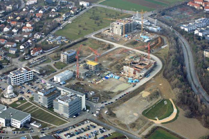 Technologiepark Tübingen im Februar 2018 (Bildquelle: Manfred Grohe)