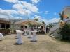 Das Festzelt im Biergarten der Gastronomie Sternwarte