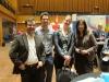Gut gelaunt: Johannes Matheis und Manuel Müllner von Jomatik GmbH, Nadine Antic und Christine Decker