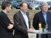 Die Redner OB Boris Palmer, CeGaT-Geschäftsführer Dirk Biskup und Architekt und Generalplaner Wolfgang Dess (v.l.n.r.), © Bildnachweis: CeGaT GmbH