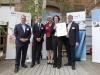 Preisträger 2: Frau Dr. Yvonne Mast mit Dr. Schacht, den Sponsoren und Dr. Eichenberg (Bildquelle: BioRegioSTERN / Michael Latz)