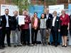 """Preisträger 3: Das Team """"Immune Modulating Orf Virus - IMOrf"""" mit Dr. Schacht, den Sponsoren und Dr. Eichenberg (Bildquelle: BioRegioSTERN / Michael Latz)"""