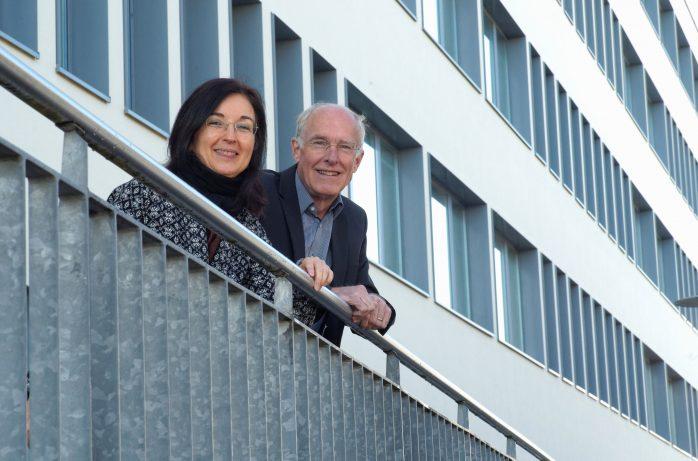 Christine Decker und Wolfgang Kleinmann vor dem BTZ